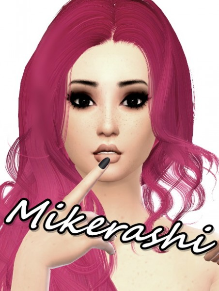 Mikerashi: Newsea`s Canalis Hair Retextured for Sims 4