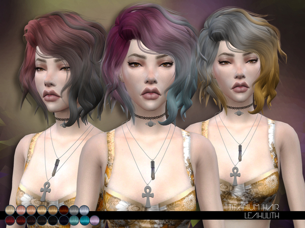The Sims Resource: Titanium Hair by LeahLillith for Sims 4