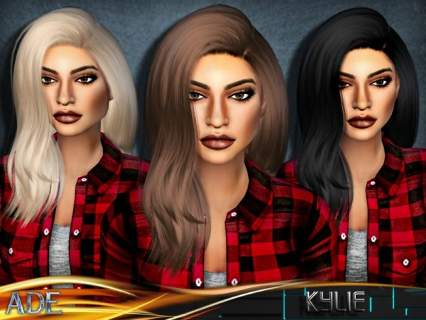 The Sims Resource: Kylie hair by Ade Darma for Sims 4