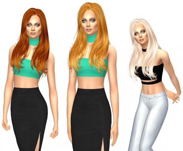 Sims Fun Stuff: Newsea`s 196 Josie hair retextured for Sims 4