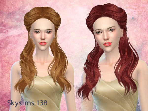 Butterflysims: Hair 138 by Skysims for Sims 4