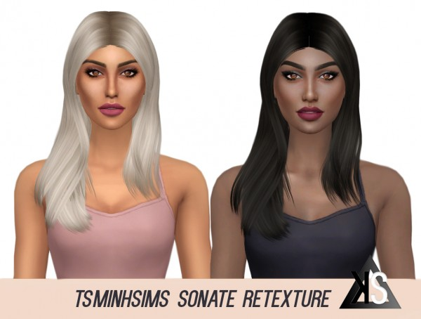 Kenzar Sims: Tsminh`s   Sonate Hair Retextured for Sims 4