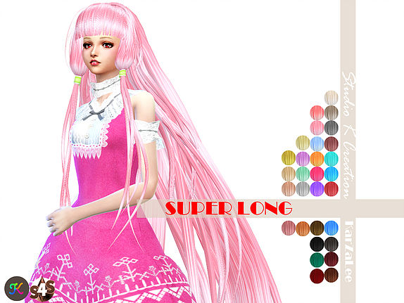 Studio K Creation: Animate hair 59   Chobits for Sims 4