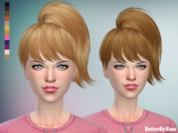 Butterflysims: Hair 076 No hat for Sims 4