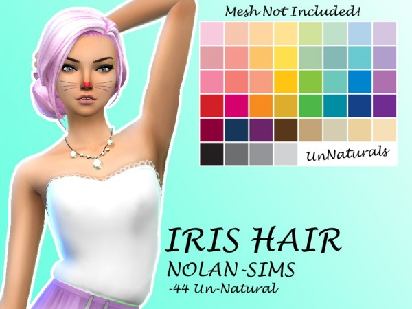 Simsworkshop: NolanSims`s Iris Hair Recolored by Lovelysimmer100 for Sims 4