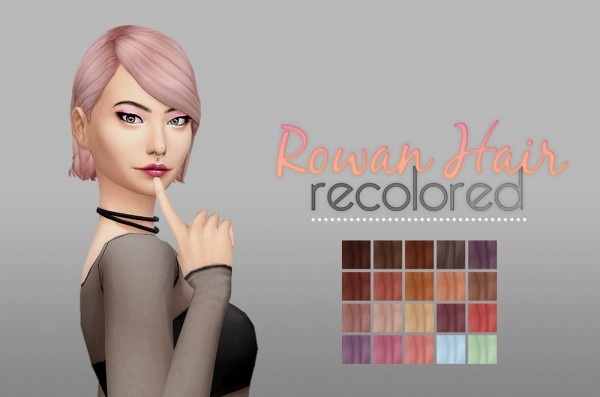 Whoohoosimblr: Rowan hair V2 for Sims 4