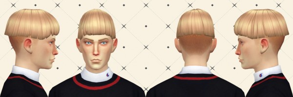Simduction: Bowl Hair for Sims 4