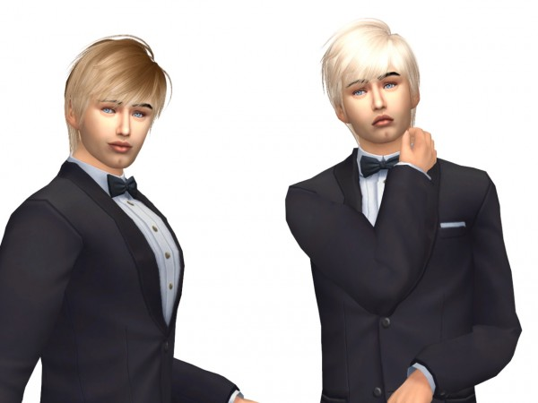 Sims Fun Stuff: Newsea`s Roy (M&F) hair retextured for Sims 4