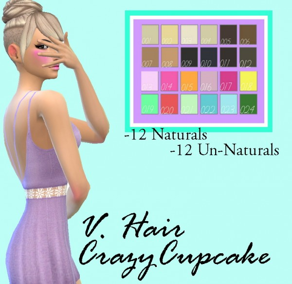 Simsworkshop: Crazycupcake Hair Recolored by Lovelysimmer100 for Sims 4