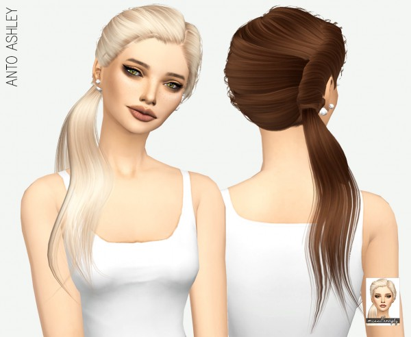 Miss Paraply: Anto Ashley solids hair for Sims 4