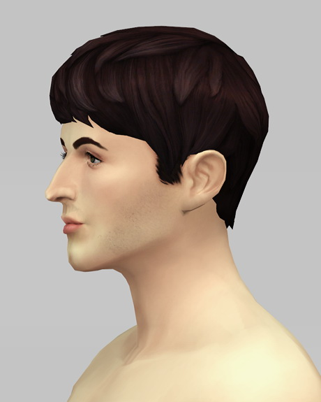Rusty Nail: Beatle Boy`s hair V1 for Sims 4