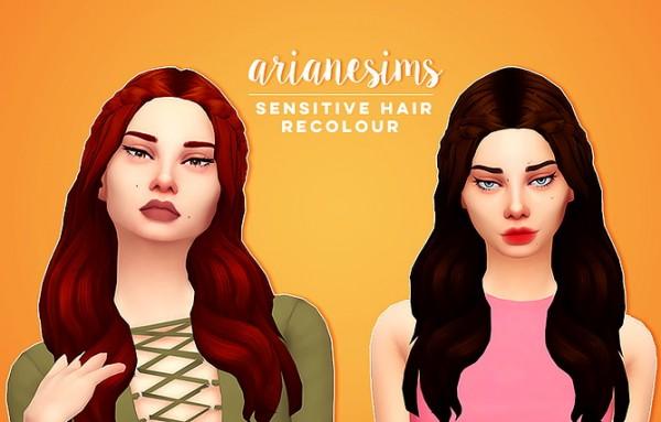 Ariane Sims: Sensitive hair for Sims 4
