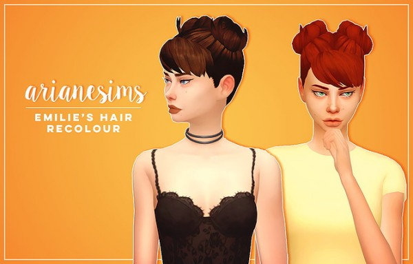 Ariane Sims: Emilies hair recolor for Sims 4