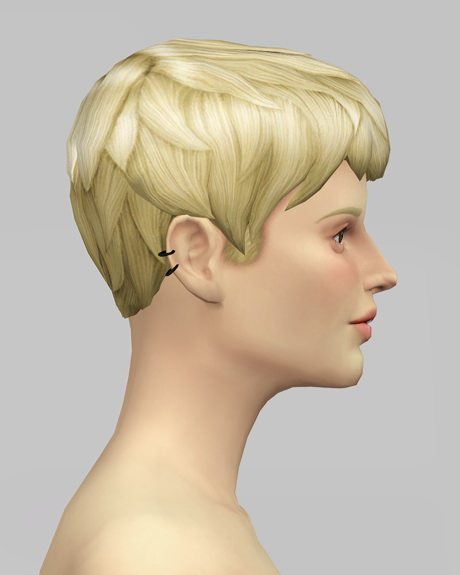 Rusty Nail: Beatle Boy`s hair V1F for Sims 4