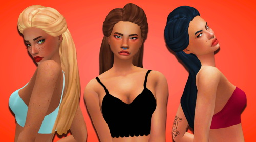 Weepingsimmer: Butterfly`s 179 Hair Clayified for Sims 4