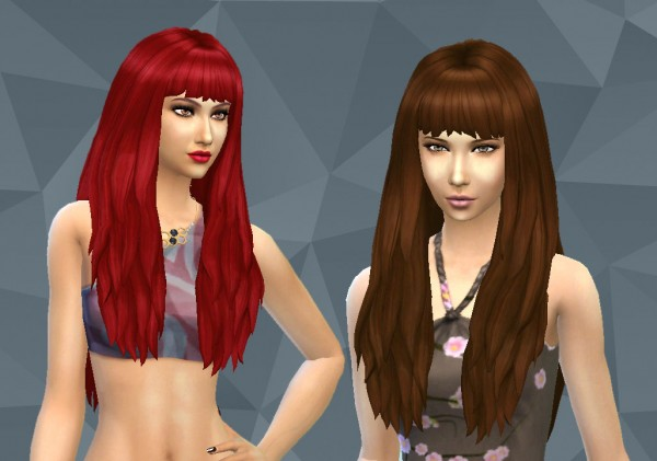 Mystufforigin: Long NO Dipped Color for Sims 4