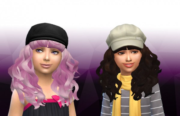Mystufforigin: Peggy 885 Child Hair Conversion for Sims 4