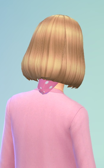 Birksches sims blog: Girls Bob with Band for Sims 4