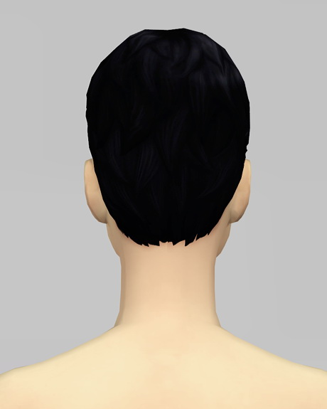 Rusty Nail: Beatle Boy`s hair V2F for Sims 4
