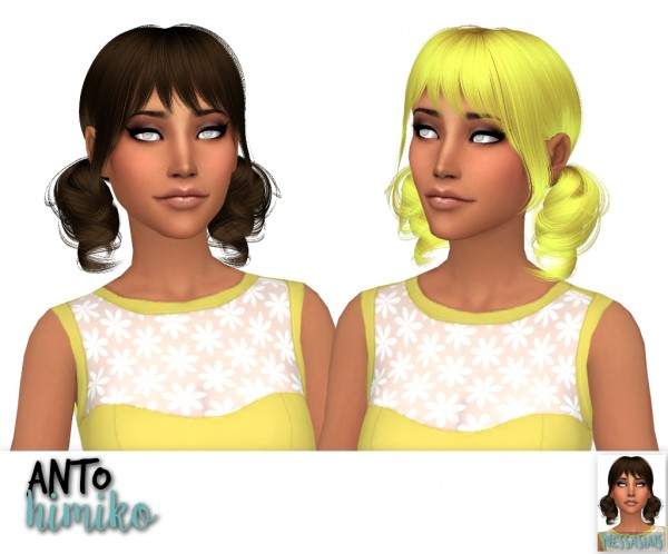 Nessa sims: Anto`s Ashley, Himiko and Zooey hair retextures for Sims 4