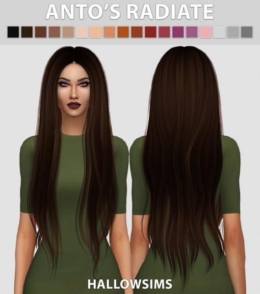 Hallow Sims: Anto's Radiate hair retextured for Sims 4