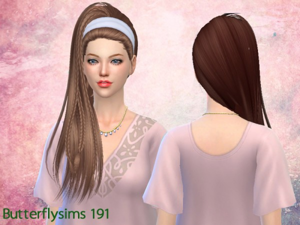 Butterflysims: Hair 191 by YOYO for Sims 4