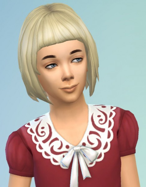 Birksches sims blog: Kids Bob with short Bangs for Sims 4