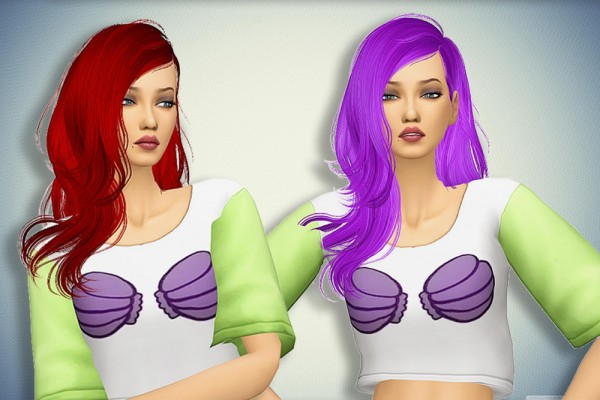 Pllumbobbilypixels: Newswea`s Ivory Tower hair retextured for Sims 4