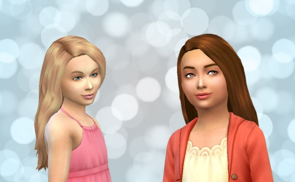 Mystufforigin: Straight hair for girls for Sims 4