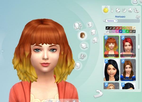 Mystufforigin: Medium Dipped Color for Girls for Sims 4