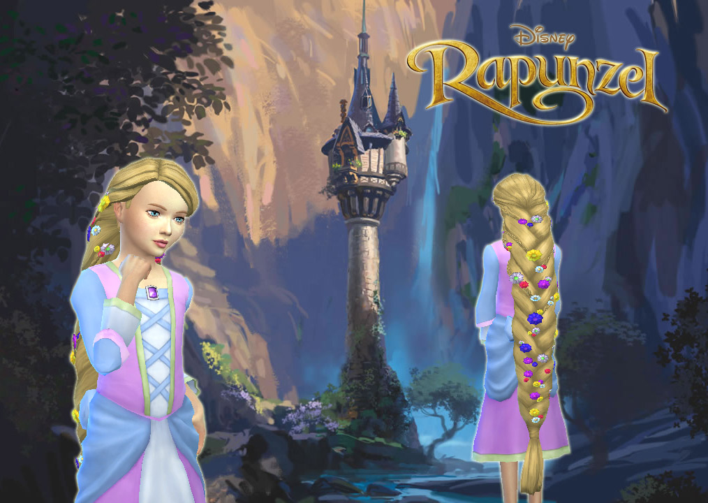 Sims 4 Hairs Mystufforigin Rapunzel Braid For Girls