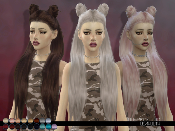 The Sims Resource: Little Piece Hair by LeahLillith for Sims 4