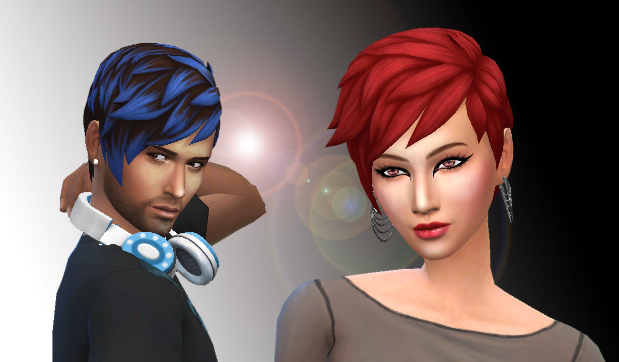 Sims 4 Hairs Mystufforigin Long Front Messy Hair