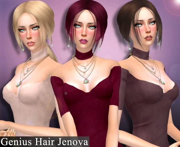 Genius6613: Jenova hair retextured for Sims 4