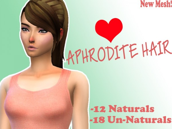 Simsworkshop: Aphrodite Hair by Lovelysimmer100 for Sims 4