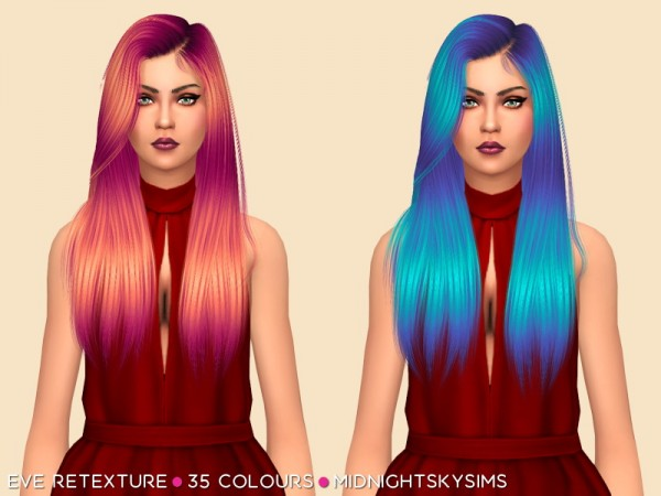Simsworkshop: Eve unnatural retextured by midnightskysims, for Sims 4