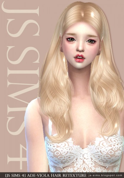 JS Sims 4: AdeDarma`s Viola Hair Retextured for Sims 4