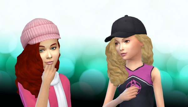 Mystufforigin: Curly Gurly hair conversion for Sims 4
