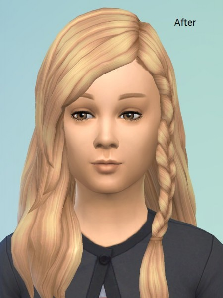 Birksches sims blog: Messy Braid Edit for Sims 4