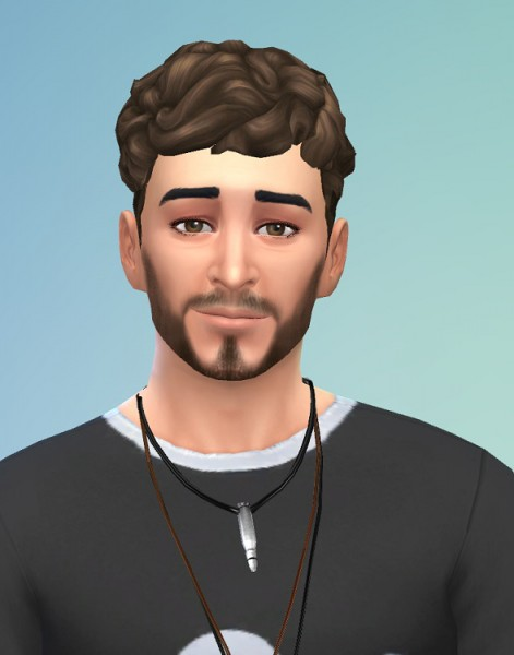 Birksches sims blog: Gere Hairstyle for Sims 4