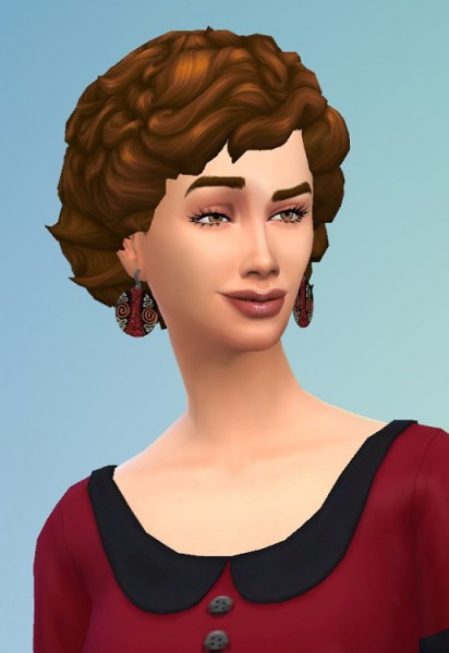 Birksches sims blog: Big Curls for her for Sims 4