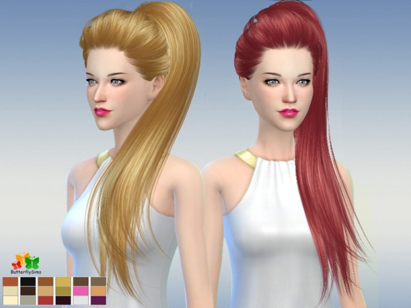 Butterflysims: Hair 169 No hat for Sims 4