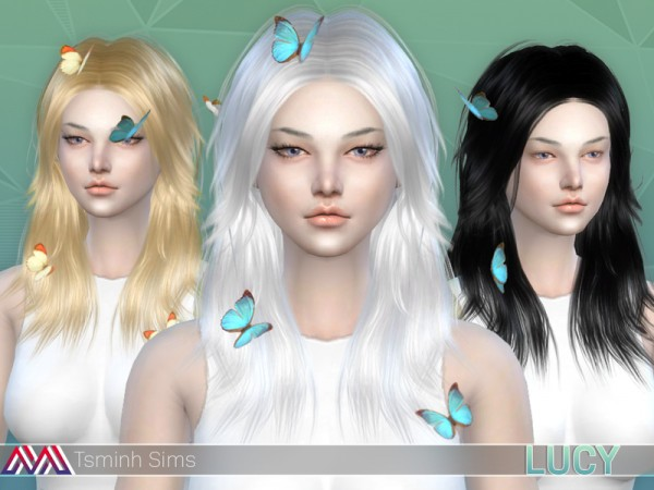 The Sims Resource: Lucy hair for Sims 4