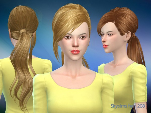 Butterflysims: Hair 208 by Skysims for Sims 4