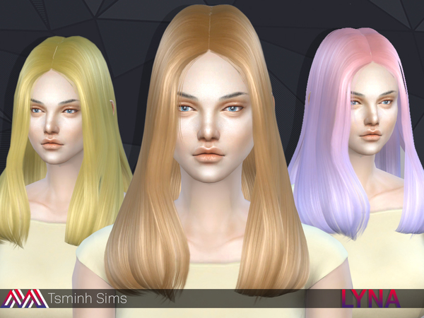 The Sims Resource: Lyna 11 Hair by tsminh for Sims 4