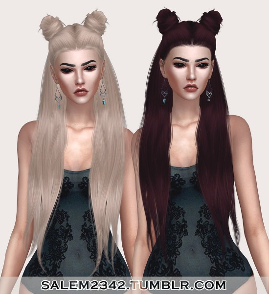 Salem2342: LeahLillith`s Little Piece Hair Retextured for Sims 4