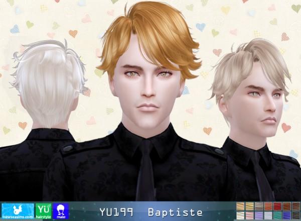 NewSea: YU199 Baptiste hair for Sims 4
