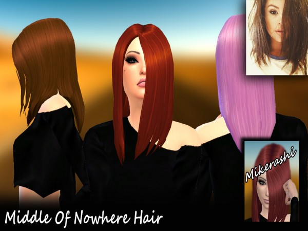 Mikerashi: Middle Of Nowhere Hair for Sims 4