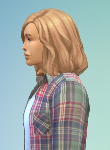 Birksches sims blog: Temptation Hair for him for Sims 4