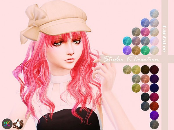 Studio K Creation: Animate hair 65   Rika for Sims 4